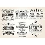 2017圣诞节花纹标签矢量图