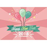 2018新年背景矢量图