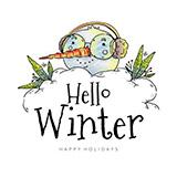 可爱的头雪人戴着眼镜和耳罩