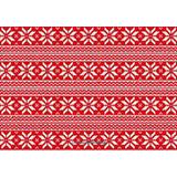 红色圣诞织物矢量图