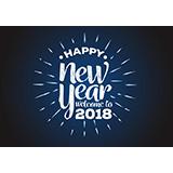 2018 Happy New Year背景矢量图